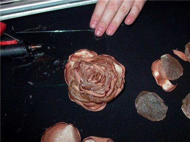 декоративные цветы из ткани схемы выкройки.