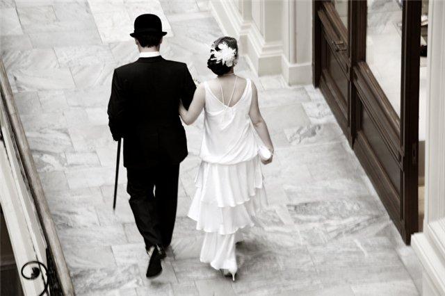 свадебное платье в стиле 20-х гг.