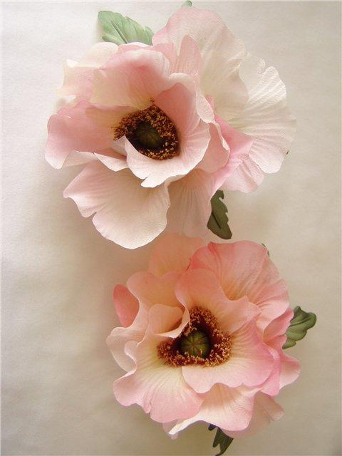 Мастер-класс Шитьё: Цветы из кругов ткани (мастер-класс.